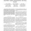 Towards Optimal Design of Data Hiding Algorithms Against Nonparametric Adversary Models
