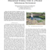Towards Particle Filter SLAM with Three Dimensional Evidence Grids in a Flooded Subterranean Environment