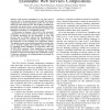 Towards Semantics Driven Generation of Executable Web Services Compositions