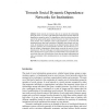 Towards Social Dynamic Dependence Networks for Institutions