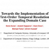Towards the Implementation of First-Order Temporal Resolution: the Expanding Domain Case