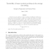 Tractability of tensor product problems in the average case setting