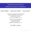 Transductive learning for statistical machine translation