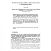 Transformations from EDOC to EJB by Composition of Mapping Operations
