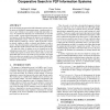 Trustworthy Service Caching: Cooperative Search in P2P Information Systems