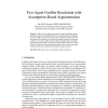 Two-Agent Conflict Resolution with Assumption-Based Argumentation