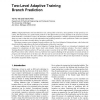 Two-Level Adaptive Training Branch Prediction