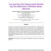 Two-level Key Pool Design-based Random Key Pre-distribution in Wireless Sensor Networks