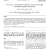 Two-stage autocorrelation approach for accurate single sinusoidal frequency estimation