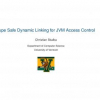Type safe dynamic linking for JVM access control