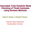 Unbounded, Fully Symbolic Model Checking of Timed Automata using Boolean Methods