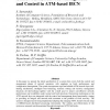Unified Fault, Resource Management and Control in ATM-based IBCN