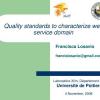 Unifying Quality Standards to Capture Architectural Knowledge for Web Services Domain
