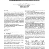 Updating and constructing constrained delaunay and constrained regular triangulations by flips