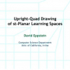 Upright-Quad Drawing of st-Planar Learning Spaces