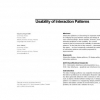 Usability of interaction patterns
