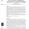 User-centered evaluation of information: a research challenge