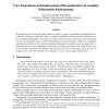 User Experiences and Impressions of Recommenders in Complex Information Environments