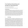 User Interface Entwicklung mit interaktiven Spezifikationen