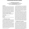 Using distributed w-learning for multi-policy optimization in decentralized autonomic systems