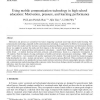 Using mobile communication technology in high school education: Motivation, pressure, and learning performance