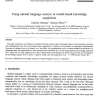Using Natural Language Sources in Model-Based Knowledge Acquisition