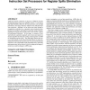 Utilizing custom registers in application-specific instruction set processors for register spills elimination