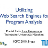 Utilizing Web Search Engines for Program Analysis