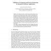 Validation of Component and Service Federations in Automotive Software Applications