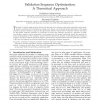 Validation Sequence Optimization: A Theoretical Approach