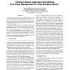 Variation-Aware Application Scheduling and Power Management for Chip Multiprocessors