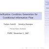 Verification condition generation for conditional information flow