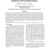 View Dependent Stochastic Sampling for Efficient Rendering of Point Sampled Surfaces