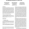 Vines and vineyards by updating persistence in linear time