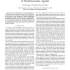 Vision-based Control Laws for Distributed Flocking of Nonholonomic Agents