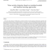 Voice activity detection based on statistical models and machine learning approaches