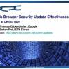 Web Browser Security Update Effectiveness