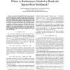 Where is Randomness Needed to Break the Square-Root Bottleneck?