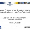 Whole-program linear-constant analysis with applications to link-time optimization