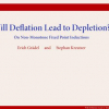 Will Deflation Lead to Depletion? On Non-Monotone Fixed Point Inductions