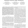 Worm Detection at Network Endpoints Using Information-Theoretic Traffic Perturbations