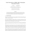 York University at TREC 2007: Enterprise Document Search