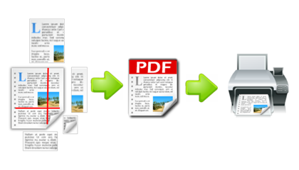 Converts web page to printer friendly PDF